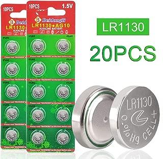 Beidongli AG10 LR1130, L1130,LR54, 389,390,1.5V Button Coin Cell Batteries 20 Pack