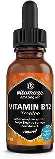Vitamina B12 Gotas 500 mcg Alta Dosis por Diaria. 50 ml (1700 Gotas). Metilcobalamina y Adenosilcobalamina. Alta Biodisponibilidad. sin Aditivos Innecesarios