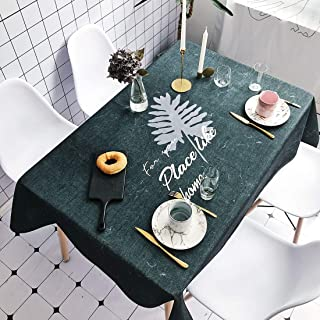 Simple Modern kitchen/home tools Leaf Pattern Pattern Waterproof Anti-scalding Rectangle Cotton and Linen Table Cloth, Sim...