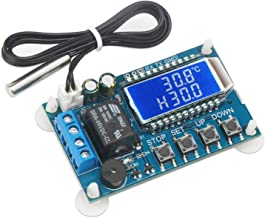 Electronic Thermostat Controller, DROK Digital Temperature Control Board DC 6-30V -50 to +110 Degree Celsius High Accuracy LCD Digital Micro Temp Control Switch Module with Waterproof Sensor Probe