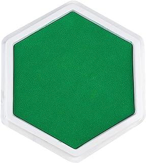 HEALLILY Artisanat Tampon Encreur Hexagone Main Doigt Encre Timbre Lavable Couleur Bricolage pour Papier Scrapbooking Bois...