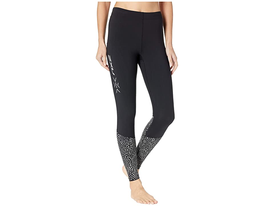 Image of 2XU MCS Run Thermal Compression Tights (Black/Silver Glow Reflective) Women's Workout