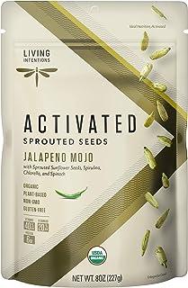 Living Intentions Organic Sprouted Sunflower Seeds: Jalapeno Mojo – NonGMO – Gluten Free – Vegan – Paleo – Kosher – 8 Ounc...