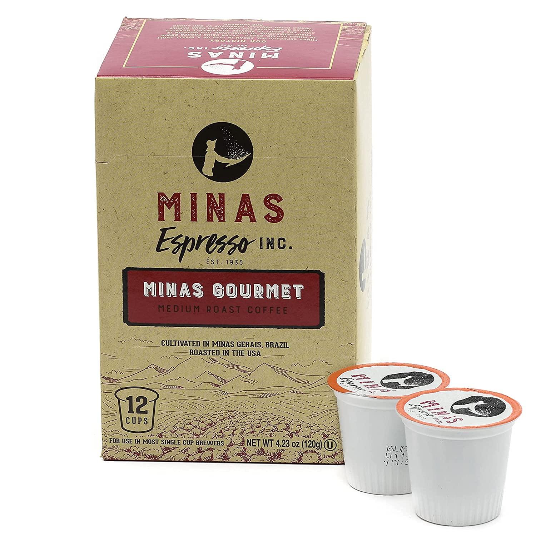 Minas Medium Roast Coffee pods Popularity Great interest 12X4 coffee Count Single Serve po