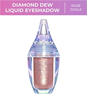 Lime Crime Diamond Dew Glitter Eyeshadow, Rose Goals - Iridescent Lid Topper Rose Gold - Reflective Sparkle Shadow for Lids, Cheeks & Body - Won't Smudge or Crease - Vegan - 0.14 fl oz