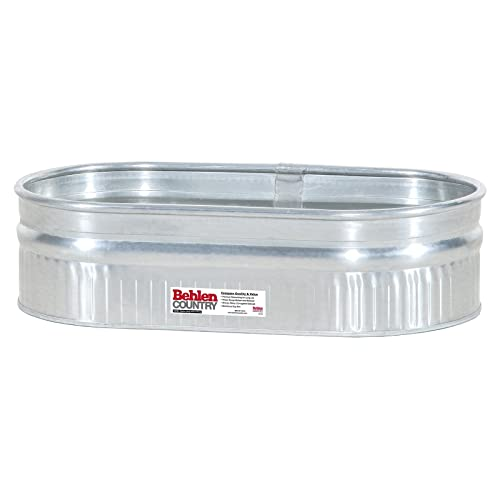 c52669d74f9 Behlen Country ST214 Shallow Galvanized Steel Round End Stock Tank
