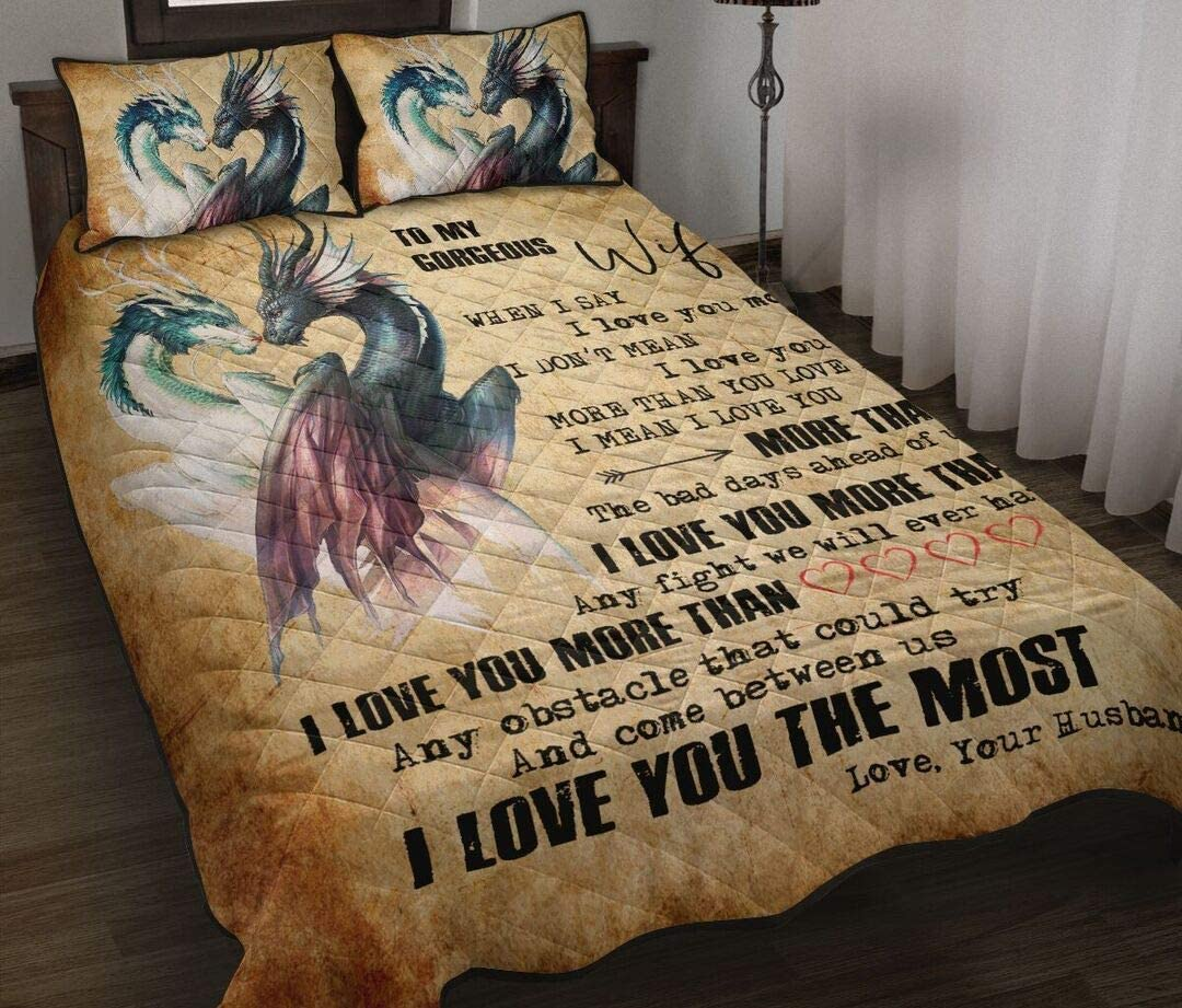 ENCYCOM to My 5 popular Gorgeous Overseas parallel import regular item Dragon Quilt Happy Father's Siz Day Twin
