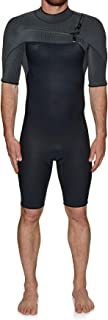 O'Neill Mens Hyperfreak 2mm Chest Zip GBS Shorty Wetsuit Abyss Graphite 5036 - Breathable