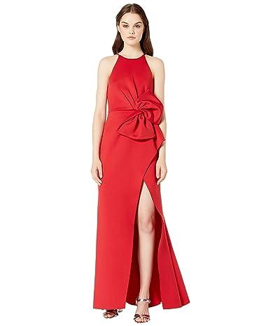 Badgley Mischka Side Bow Gown (Bright Siam) Women