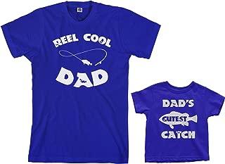 Threadrock Reel & Cutest Catch Toddler & Men's T-Shirt Matching Set