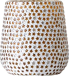 Creative Co-op Gold Glass Star Mosaic Votive Candle Holder, 4.25