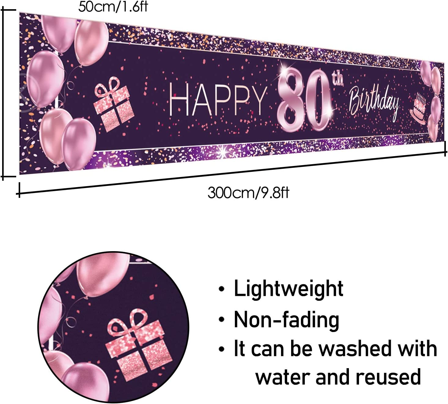 PAKBOOM Happy 14th Birthday Backdrop Pink Photo Background Banner Cheers to 14 Years Old Decorations Party Supplies