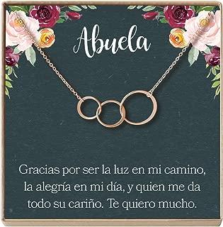 Collar Regalo para Abuela, Día de la Madre, Cumpleaños, Día de la Mujer, 3 Asymmetrical Circles