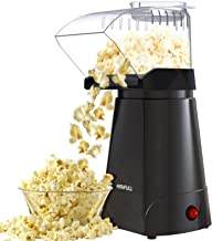 HIRIFULL 1200W Hot Air Popcorn Poppers Machine, Home Electric Popcorn Maker with Measuring Cup, 3 Min Fast Popping, ETL Ce...