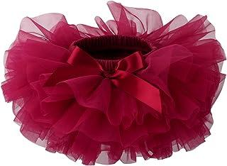 Slowera Baby Girls Soft Tutu Skirt (Skorts) 0 to 36 Months (S: 0-6 Months, Wine Red)