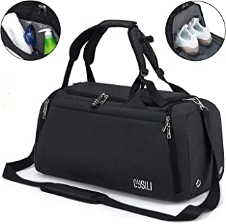 """Sports Gym Bag with Shoes Compartment/Wet Pocket,42L Travel Duffel Bag with Shoulder Strap Dimension: 21.6""""x 10.6""""x 11"""" / ..."""
