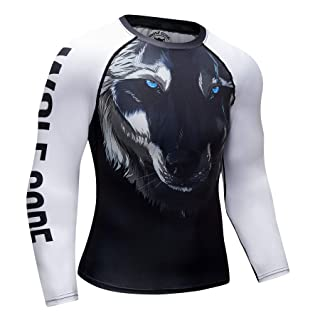 Wolf Code Fightwear Long Sleeve Rash Guard for BJJ, MMA, Wrestling, No-Gi Grappling