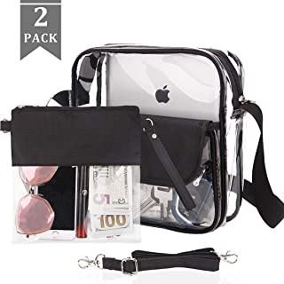 Clear Purse Crossbody Bag, NFL & PGA Stadium Approved Clear Tote Bag,Transparent Handbag for Women