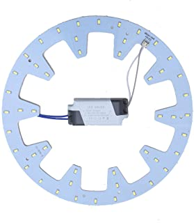 Led Panel Ceiling Light Fixtures 24w 5730 SMD Circle Annular Round Replacement Board Bulb (Warm White)
