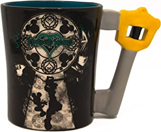 Silver Buffalo KH12043D Disney Kingdom Hearts Mickey and Sora Ceramic 3D Sculpted Mug, 20-Ounce, 20 ounce, Black