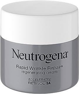 Neutrogena Rapid Wrinkle Repair Retinol Regenerating Face Cream & Hyaluronic Acid Anti Wrinkle Face Moisturizer, Neck Cream, with Hyaluronic Acid & Retinol, 1.7 oz