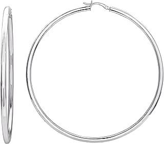 Jewelry Sterling Silver Large Tube Hoop Earrings