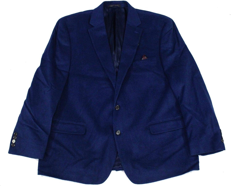 LAUREN RALPH LAUREN Mens Lacrosse Wool Blend Solid Two-Button Blazer