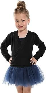 Little Girl's Classic Long Sleeve Knit Wrap Top Ballet Dance Cardigan