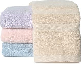 [Amazonブランド] Umi(ウミ)-フェイスタオル タオル 4枚セット 綿100% 瞬間吸水 速乾 柔らかい ふわふわ 抗菌 防臭 家庭/ホテル/スポーツなどに最適 赤ちゃん・敏感肌にも適用(4色,72x32cm)