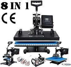 TC-Home Heat Press 8 in 1 Multifunction Sublimation Heat Press Machine Digital Transfer Sublimation T-Shirt Mug Hat Plate Cap (Heat Press Machine, 8 in 1)