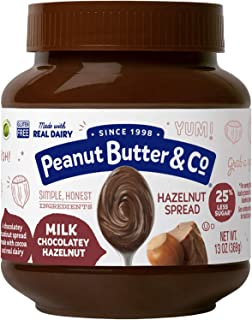Peanut Butter & Co. Milk Chocolatey Hazelnut Spread, 13 Ounce Jar (Pack of 6)