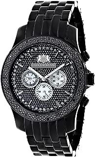 Mens Black Diamond Watch 0.25ct LUXURMAN New Arrival