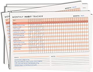 Alter Ego A4 Size Monthly Habit Tracker With Goals For Self-improvement And Building Habits (pack Of 12)