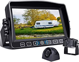 """$207 » Backup Camera with 7"""" Touch Button Monitor Built-in DVR Recorder for RV Trailer Semi Box Heavy Truck Motorhome Camper Pickup 1080P FHD Waterproof Rear Side View Back Up Cam System Xroose CMY2"""
