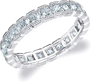 princess cut eternity ring white gold