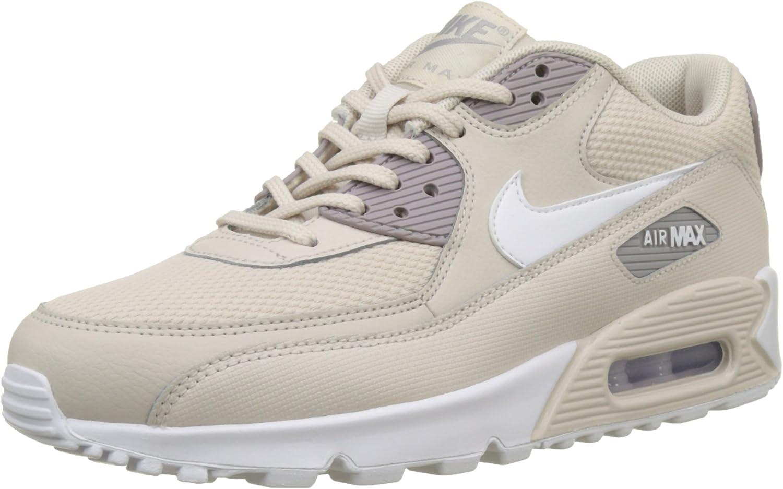 Nike Air Max 90, Scarpe da Ginnastica Donna Nero Desert Sand White Atmosphere Grey 054