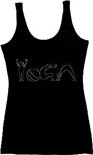Organic Cotton Yoga Workout Tank Top Spiritual Moon Shirts Tops Tees for Women