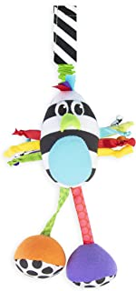 Sassy Boppin' Birdie | Developmental Plush Toy for Early Learning | High Contrast | Attaches to Baby Gear for Travel | For...