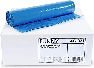 Bolsas de basura, 120l, 700 x 1100 mm, tipo de 60, azul - Contenido: 250