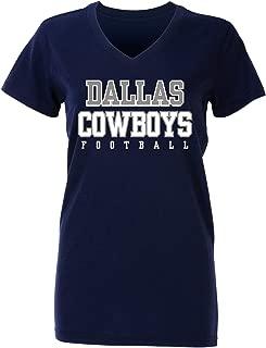 Dallas Cowboys NFL Womens Practice Glitter Tee