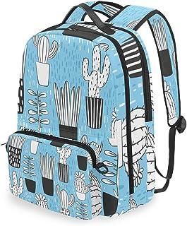 Mochila con bolsa cruzada desmontable, juego de cactus para computadora, bolsa de libro para viajes, senderismo, acampada