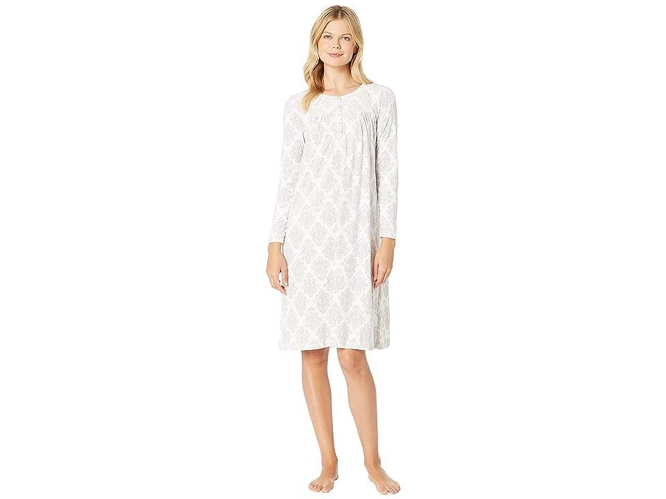 Carole Hochman Luxe Cozy Fleece Waltz Gown (Ivory Damask) Women