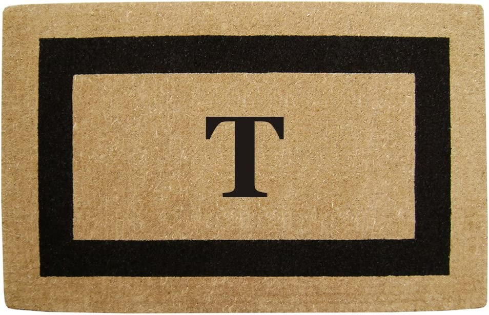 Nedia Home Single Picture Black Frame Coir 2 Max Ranking TOP19 42% OFF Doormat Duty Heavy
