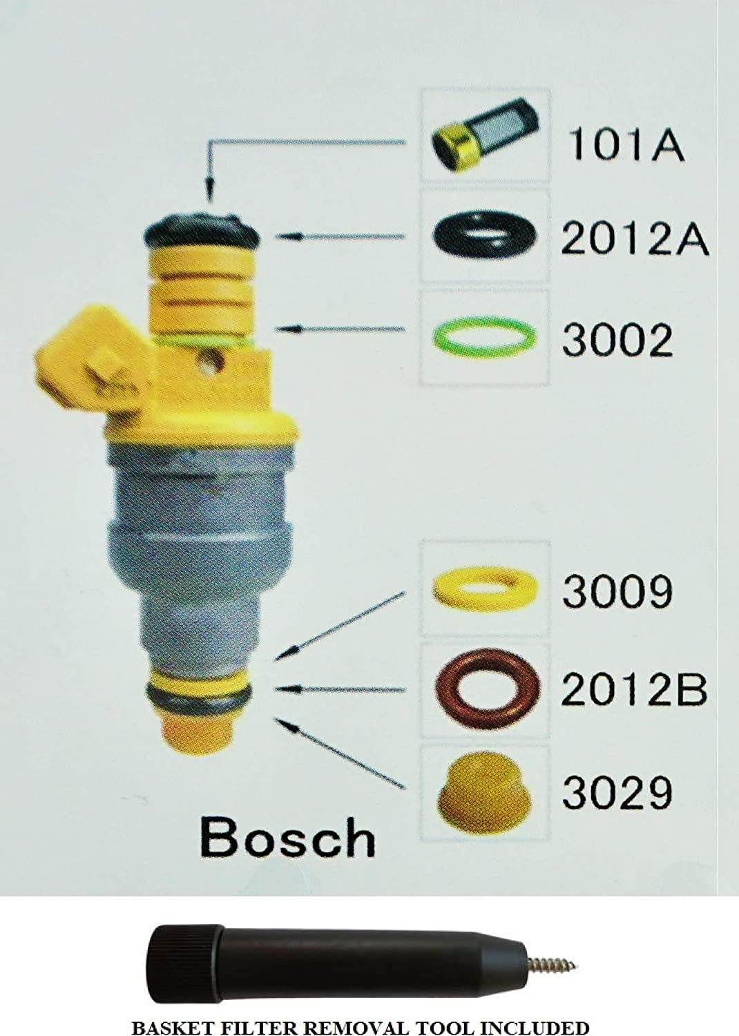 Complete Fuel Injector Rebuild Clearance SALE Limited Max 69% OFF time Kit Bosch with Optional for Fil