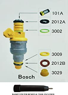 (Complete) Fuel Injector Rebuild Kit for Bosch with Optional Filter Removal Tool