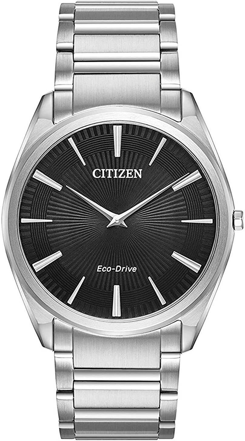 Citizen AR3070-55E Mens Eco-Drive Watch Stiletto Stainless Steel Band :  Clothing, Shoes & Jewelry - Amazon.com