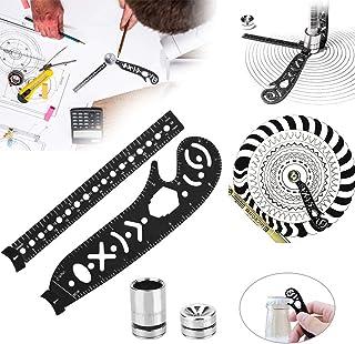 tutto in uno Strumento di disegno multifunzione artisti per disegnatori versatile strumento Magcon per disegnare righello metallico curvo mini bussola goniometro architetti