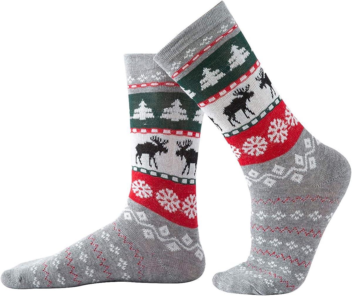 Family Christmas Matching Socks Parent-Child Socks Xmas Combed Cotton Socks for Kids Dad Mom