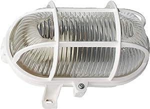 Brennenstuhl Ovaallamp Color/lamp voor binnen en buiten (spatwaterdichte lamp voor plafond- en wandmontage, IP44) wit