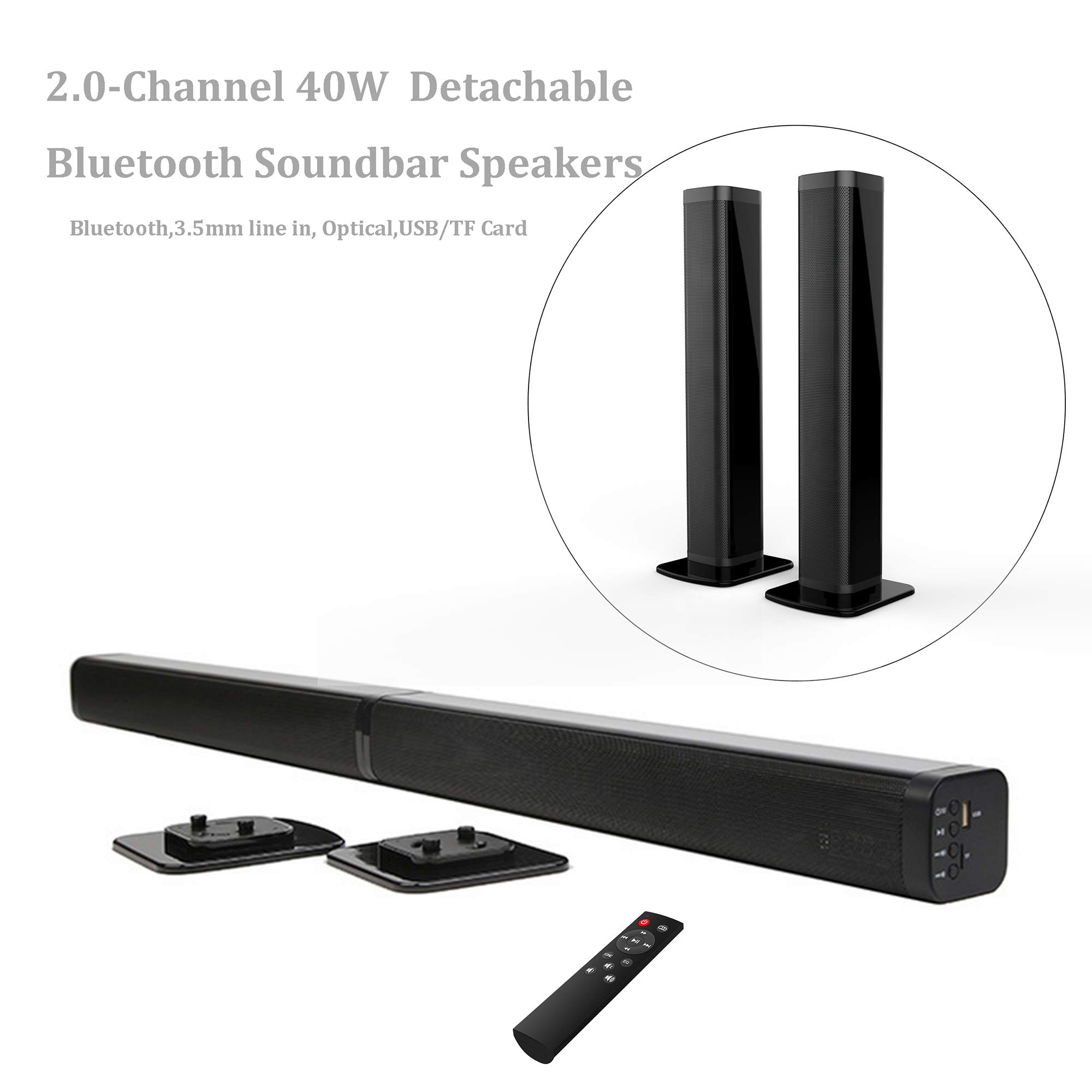 Samtronic Detachable Soundbar Wireless Bluetooth